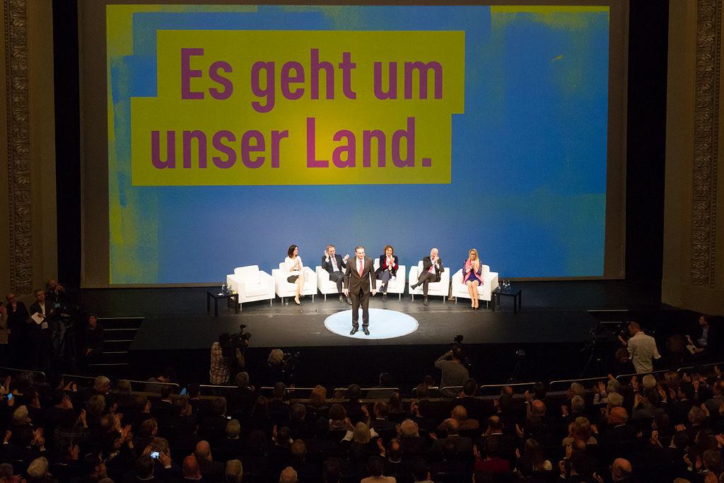 Auf dem Bild sieht man das Dreikönigs·treffen der FDP, im Jahr 2015