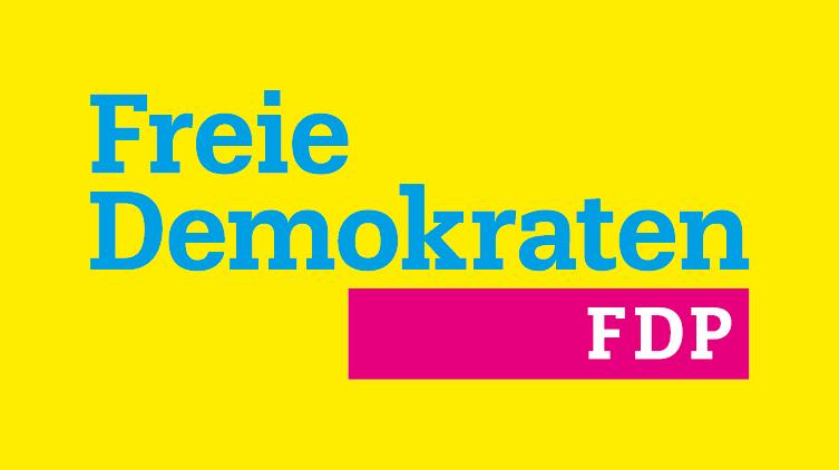Auf dem Bild ist das Zeichen (Logo) der Partei FDP zu sehen