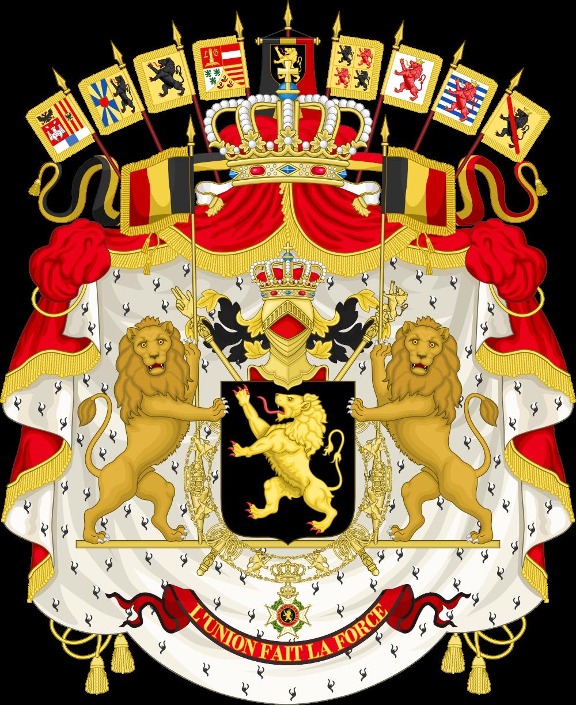 Auf dem Bild ist das Wappen von Belgien zu sehen