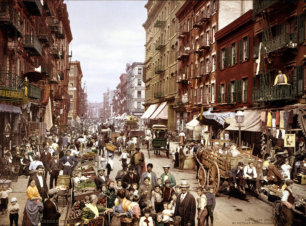 Ein altes Foto von der Stadt New York