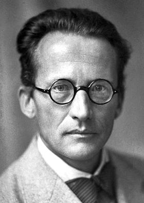 Auf dem Bild ist Erwin Schrödinger zu sehen