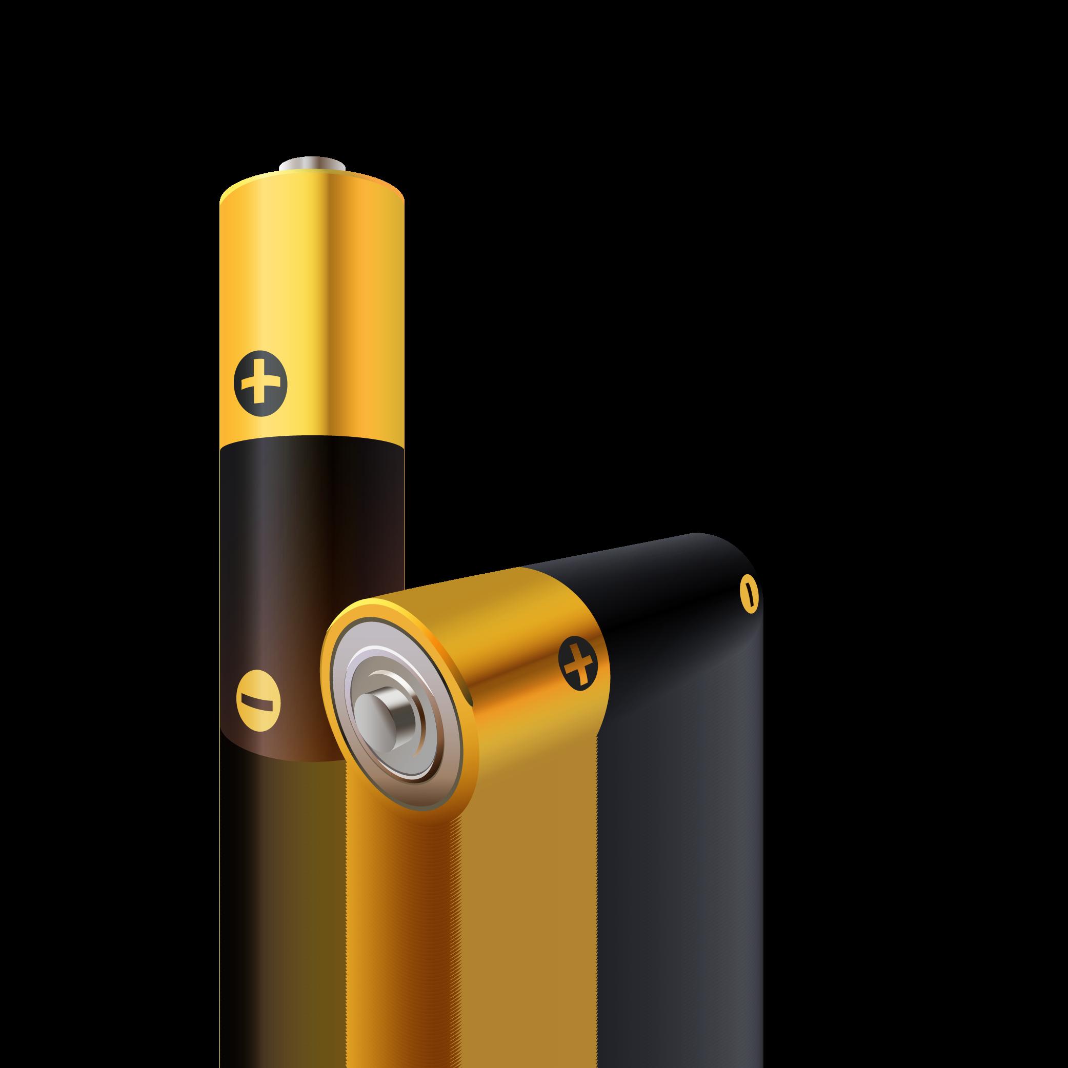 Zwei Batterien gezeichnet