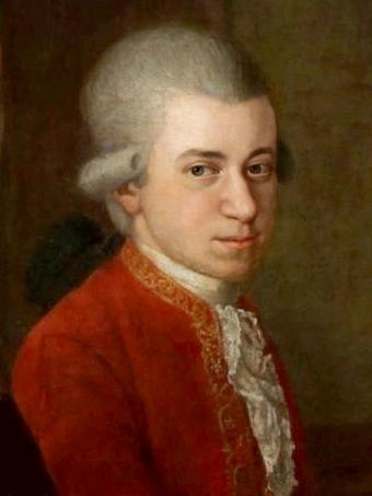Auf dem Bild ist Wolfgang Amadeus Mozart zu sehen
