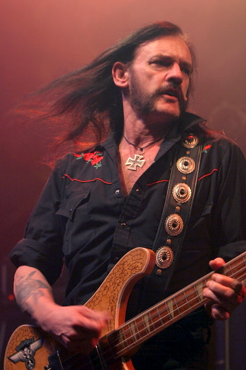 On the picture you see Lemmy Kilmister