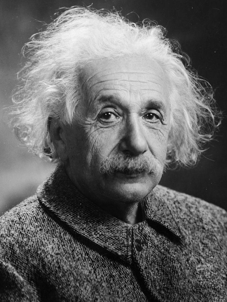 Auf dem Bild ist Albert Einstein zu sehen