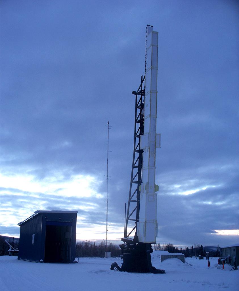 Auf dem Bild ist eine Rakete am PFRR zu sehen