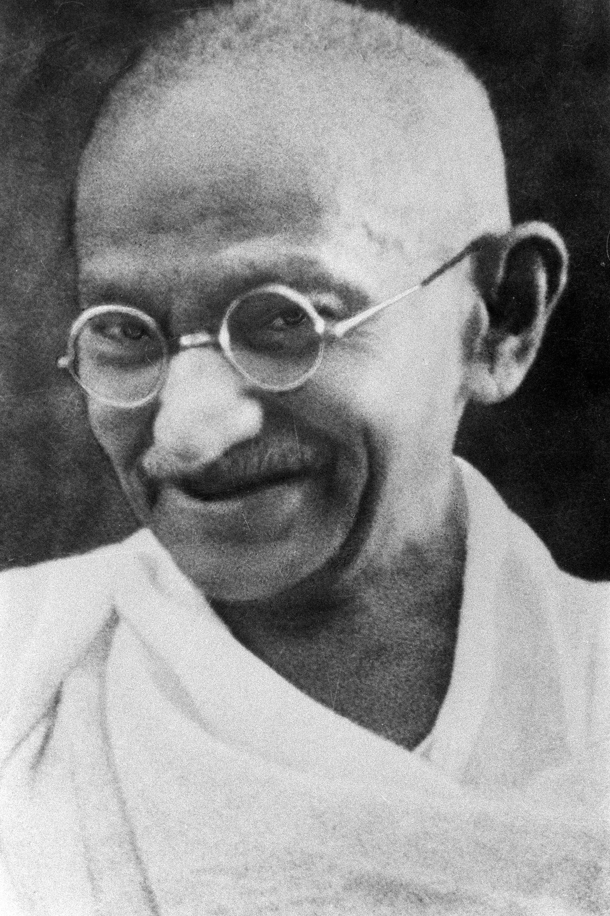 On the picture ist Mahatma Gandhi