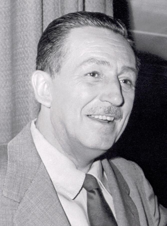 Auf dem Bild ist Walt Disney zu sehen. Auf dem Bild ist er 52 Jahre alt.