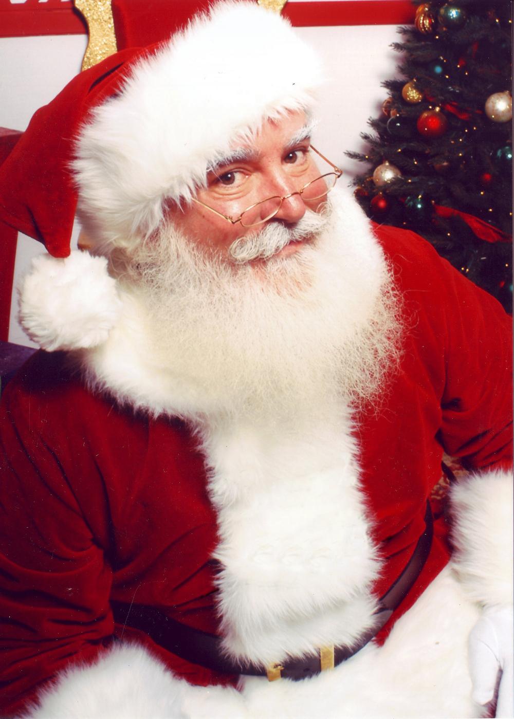 Auf dem Bild ist der Weihnachts·mann