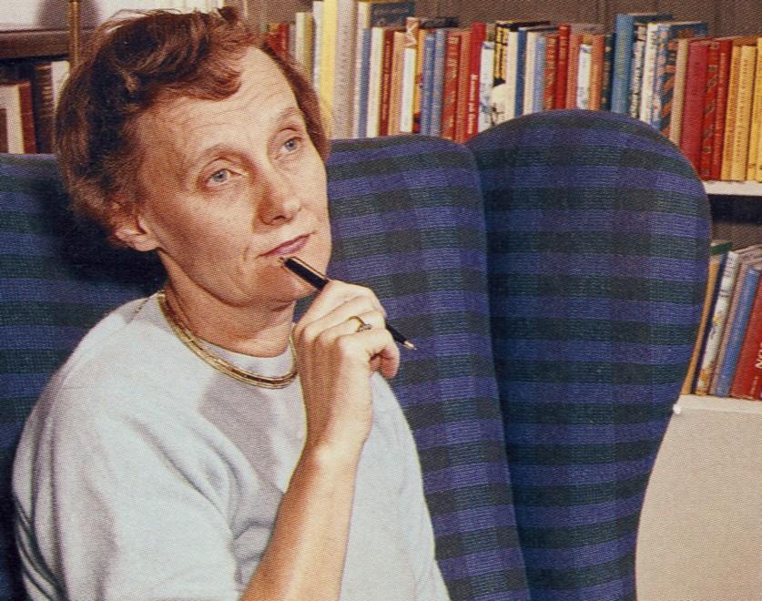 Auf dem Bild ist Astrid Lindgren zu sehen