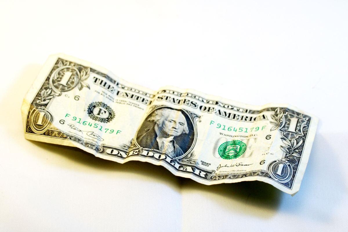 Auf dem Bild ist ein 1 Dollar Schein.