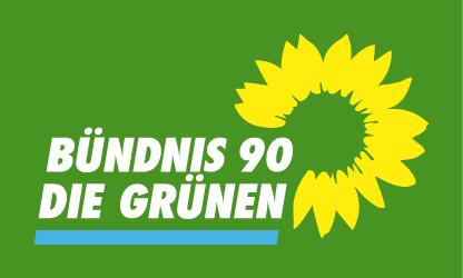 Auf dem Bild ist das Zeichen (Logo) der Partei Die Grünen zu sehen