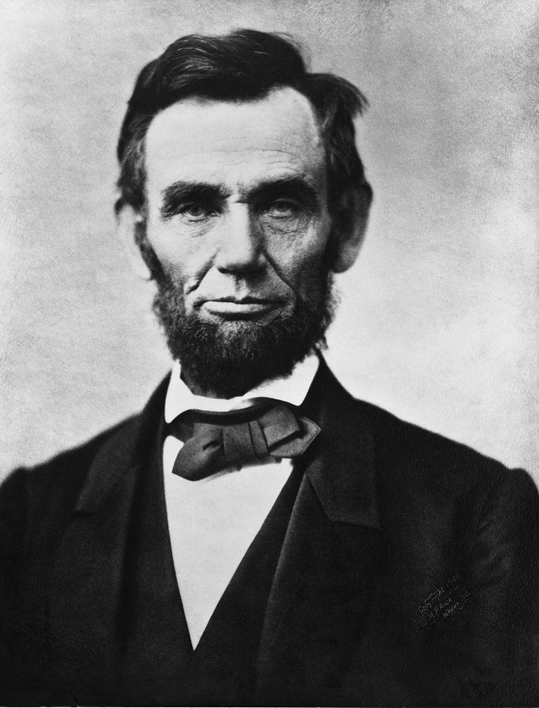 Auf dem Bild ist Abraham Lincoln zu sehen