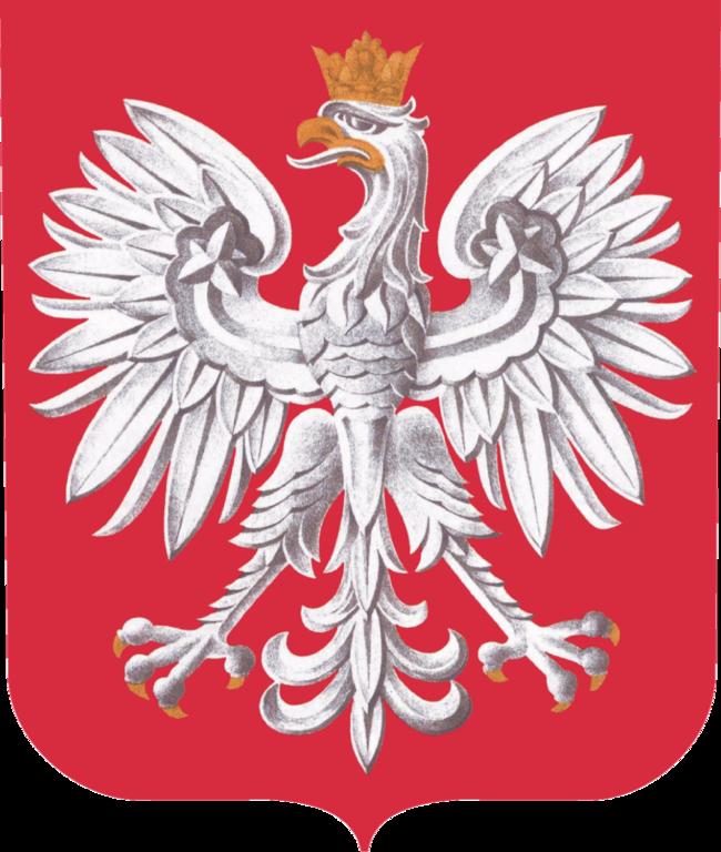 Auf dem Bild ist das Wappen von Polen zu sehen