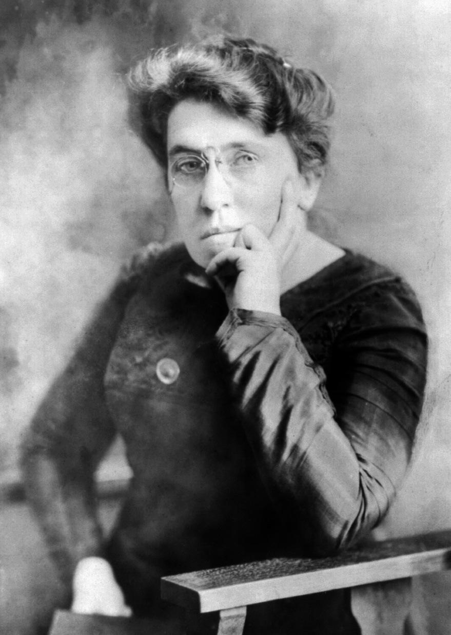 Auf dem Bild ist Emma Goldmann