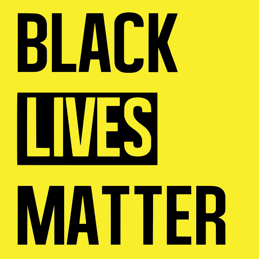 On the picture is a logo. The logo of the Black Lives Matter Action
